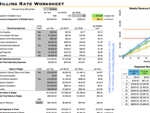 Billing Rate Worksheet